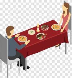 Restaurant Download Rectangle Vector Meal Men And Women Transparent PNG