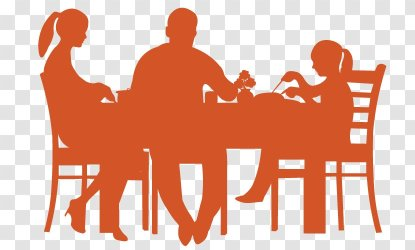 Table Dining Room Dinner Silhouette Brand Eating Transparent PNG