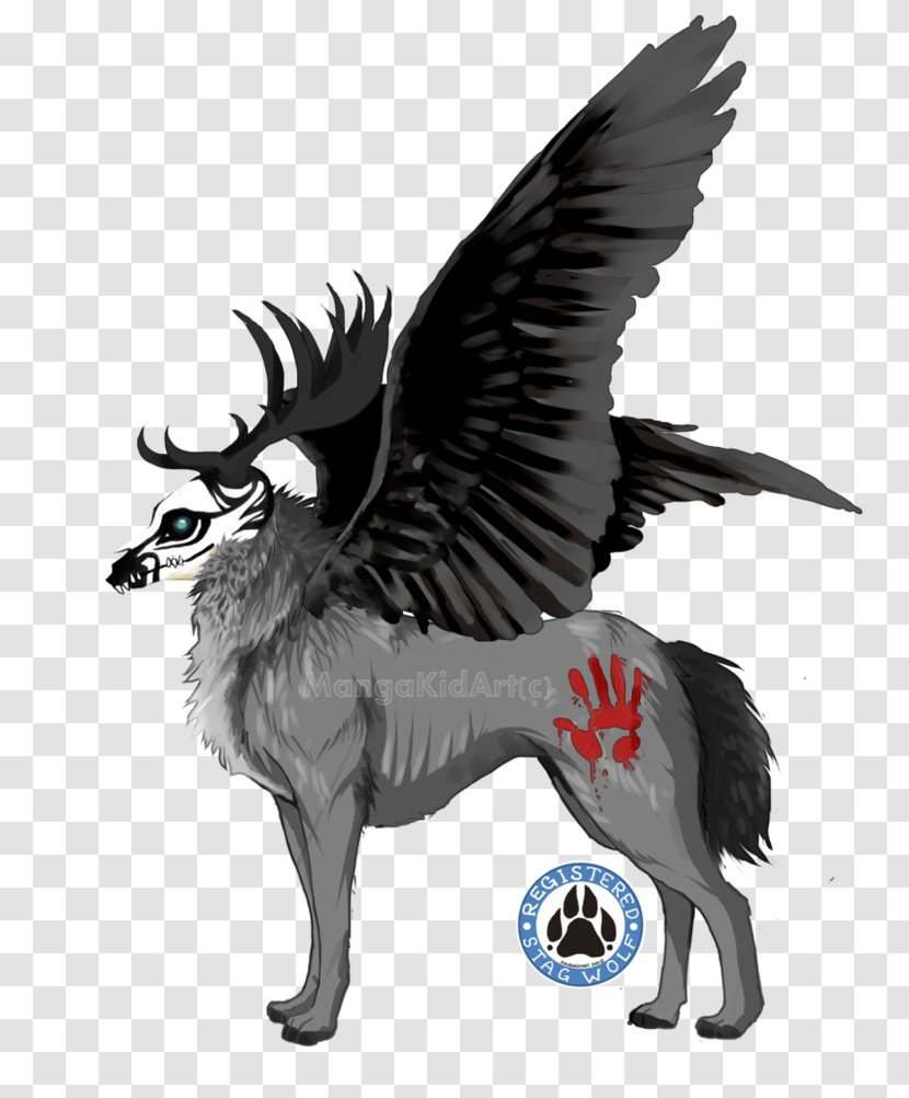 Demon Wolf With Wings : demon, wings, Fallen, Angel, Black, Demon, Wings, Transparent