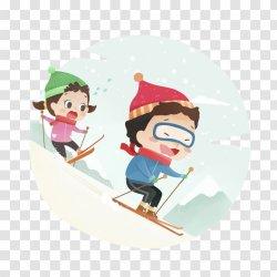 Hotel Casa Morlans Skiing Child Illustration Winter 2 Children Snow Transparent PNG