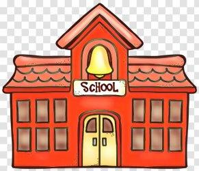 School Building Cartoon National Secondary Roof Transparent PNG