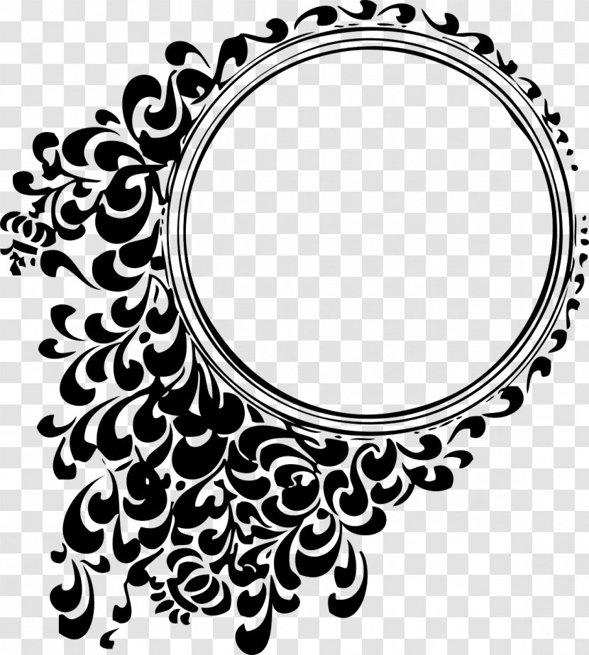Graphic Design Clip Art Black And White Circle Border Transparent Png