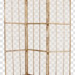 Room Dividers Rattan Folding Screen Bamboo Wicker Chairish Transparent Png