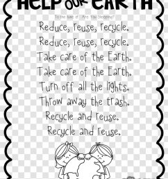 Let's Get Ready For Earth Day Poetry Worksheet - Monochrome - Environment  Transparent PNG [ 1101 x 830 Pixel ]