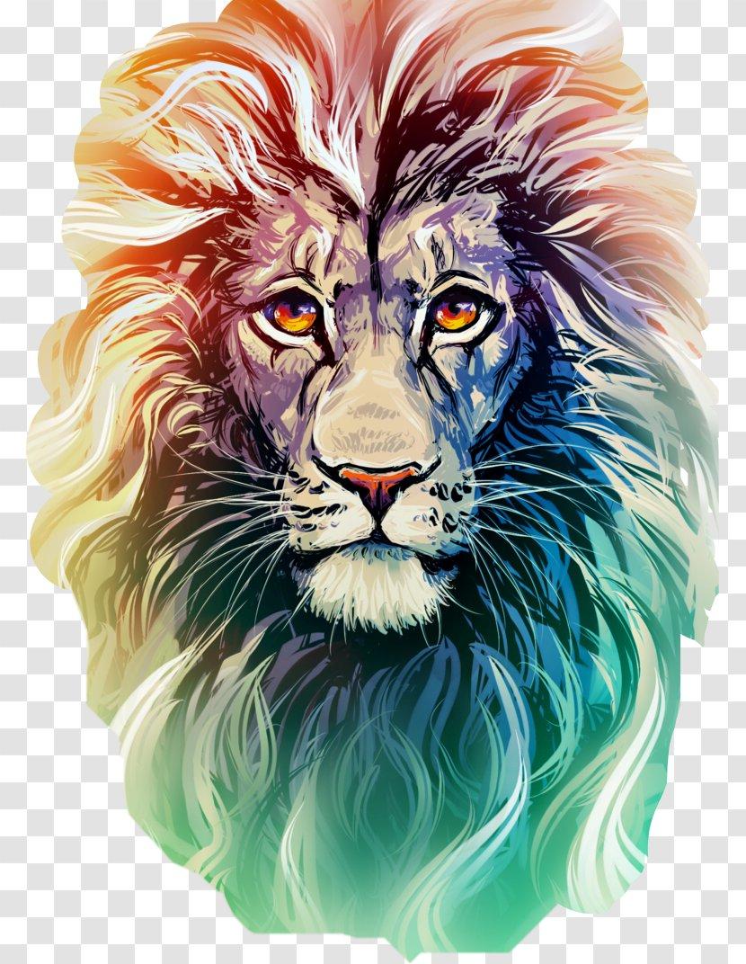 Lion Drawing Color : drawing, color, Drawing:, Colored, Pencil, Whiskers, Transparent