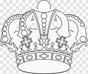Crown Clip Art Coloring Book King Drawing Black And White Transparent PNG