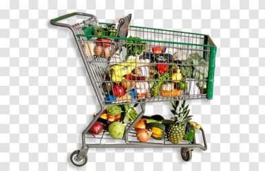 Shopping Cart Grocery Store Food Healthy Diet Service Transparent PNG