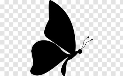 Butterfly Silhouette Drawing Clip Art Black Transparent PNG