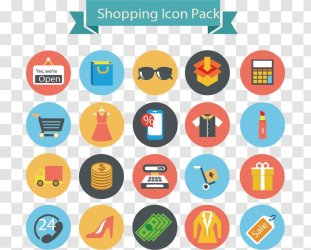 Shopping Icon Flat Icons Transparent PNG