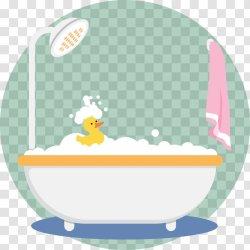 Cartoon Bathtub Illustration Bubble Bath Simple Vector Transparent PNG