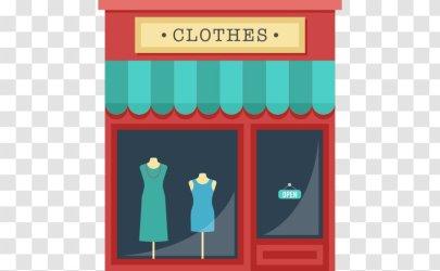 Clothing Shopping Clothes Shop Cartoon Transparent PNG