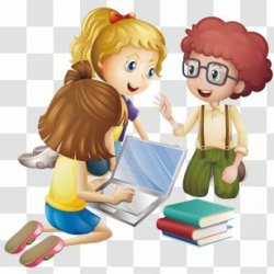 Student Cartoon Learning Transparent PNG