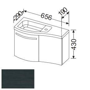 Burg Sinea Waschtischunterschrank B: 65,6 cm mit 2 Türen