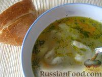 Фото к рецепту: Суп с чесночными галушками
