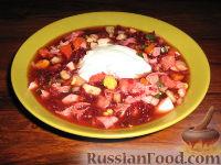 Фото к рецепту: Холодный суп на свекольно-овощном отваре