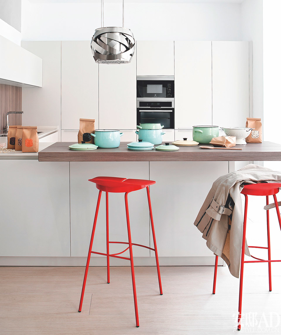kitchen island designs with seating solid wood ready to assemble cabinets 开放厨房 岛台加分island life 安邸ad家居生活网 岛台变身早餐台