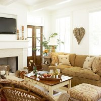 This living room has a please touch, no fuss feel. Its ...
