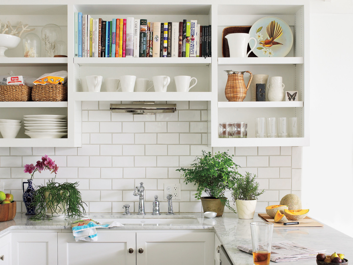 kitchen open shelves curtains amazon the one thing i wish knew before chose shelving in my southern living