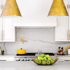 White Kitchen Backsplash Breakfast Nooks For Small Kitchens 10 Classic Options That Aren T Subway Tile With Marble Countertops And Acrylic Stools