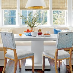 Kitchen Banquette Yellow Gloves Seating Is Trending For 2019 Southern Living Chapel Hill House Neutral Breakfast Nook With Table
