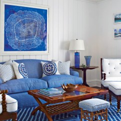 Blue Furniture Living Room 1950 S Style 106 Decorating Ideas Southern Use Bold Accessories
