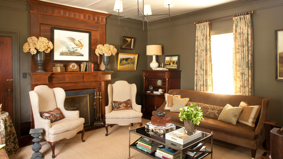 interior designs for living room with brown furniture bohemian style decor 106 decorating ideas southern fake a tall ceiling