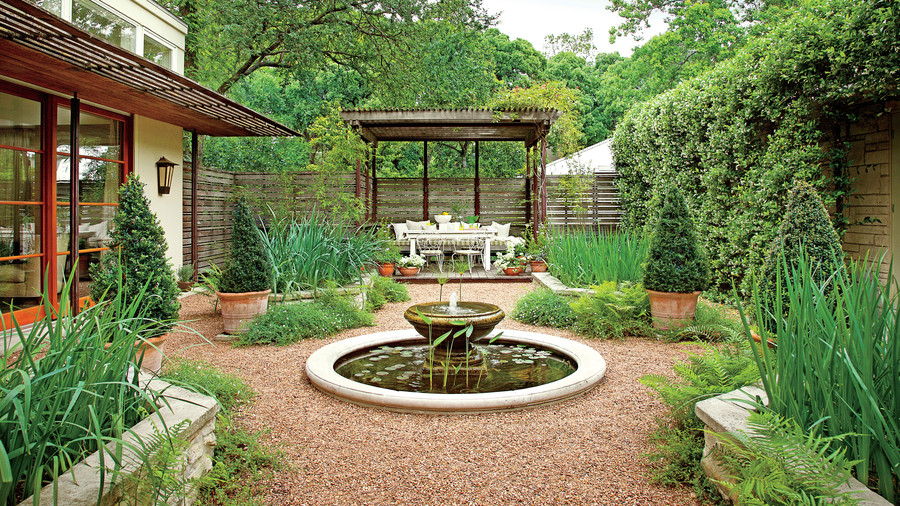 classic courtyards - southern living