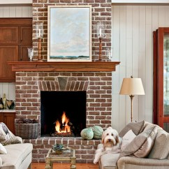 Living Room Mantel End Table Lamps For 25 Cozy Ideas Fireplace Mantels Southern Dogtrot Hallway