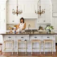 White Kitchen Cabinets Cabinet Materials Crisp Classic Southern Living Creamy