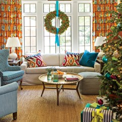 Images Of Christmas Living Room Decorations Old Designs Our Favorite Rooms Decorated For Southern Right Size Holiday Decor