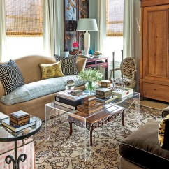 Small Table For Living Room White Sofa Decorating Ideas Space Tricks Southern Heavily Patterned With Neutral Rug