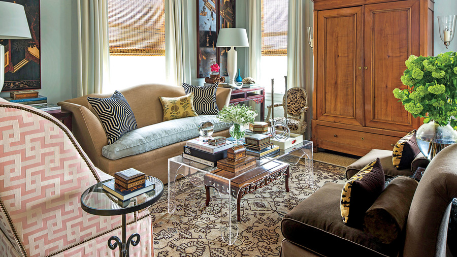 living rooms for small spaces narrow end tables room space decorating tricks southern heavily patterned with neutral rug