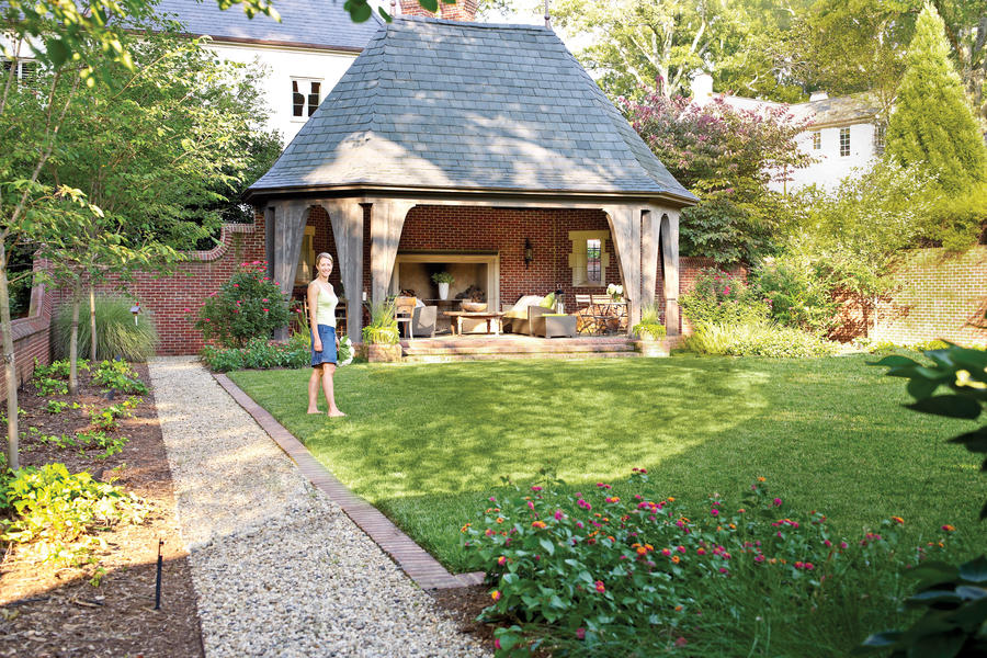 Backyard Decorating Ideas English Garden Folly Southern Living
