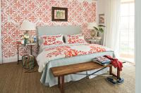 Coral Bedroom - Colorful Beach Bedroom Decorating Ideas ...
