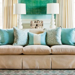 Sofa Pillow Design Ideas Navy Bed Australia How To Arrange Pillows Southern Living