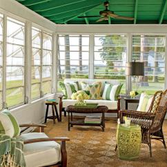 Outdoor Wicker Sleeper Sofa Brown Arm Covers Porch And Patio Design Inspiration - Southern Living