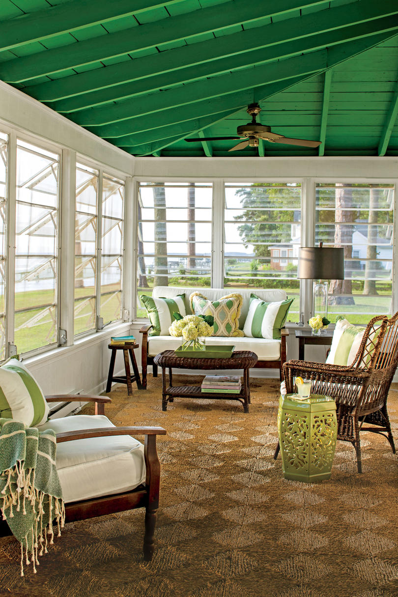 swing chair with stand malaysia patio rocking set porch and design inspiration - southern living