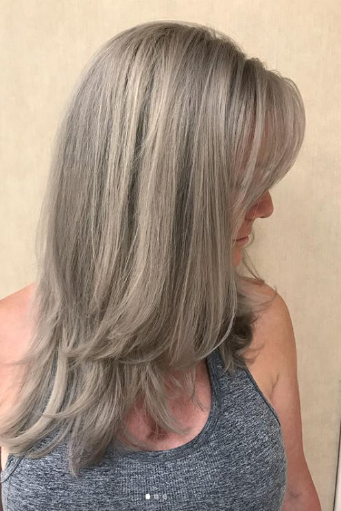 gorgeous gray hair color shades