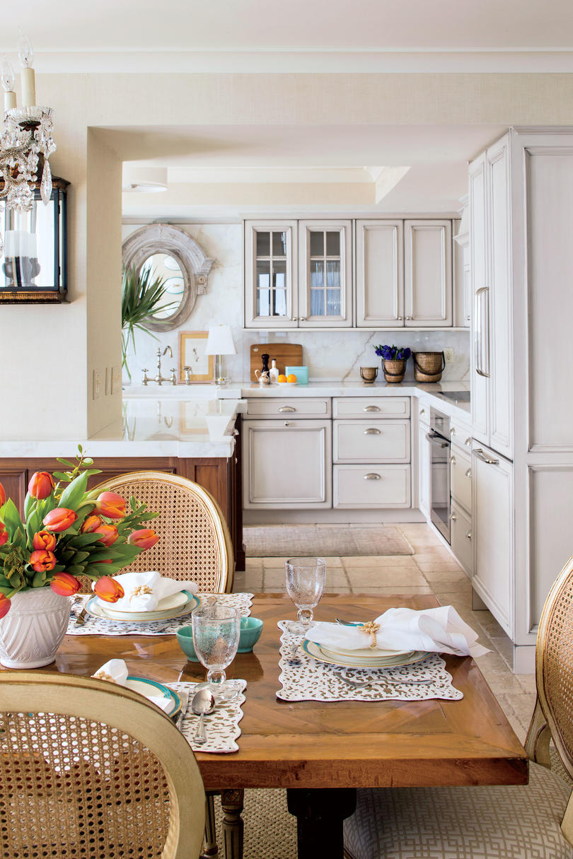 kitchen corner bench seating long curtains eat in design ideas - southern living