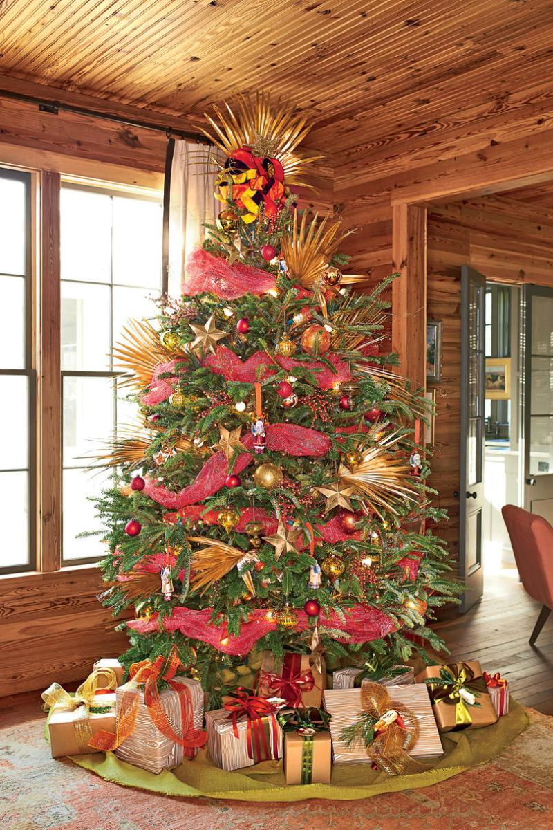 Southern christmas tree decorating ideas for Southern living keeping room ideas