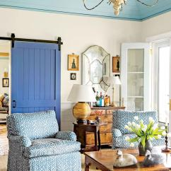 Simple Home Decor Ideas Living Room Paint With Brown Furniture 106 Decorating Southern Blue Barn Door