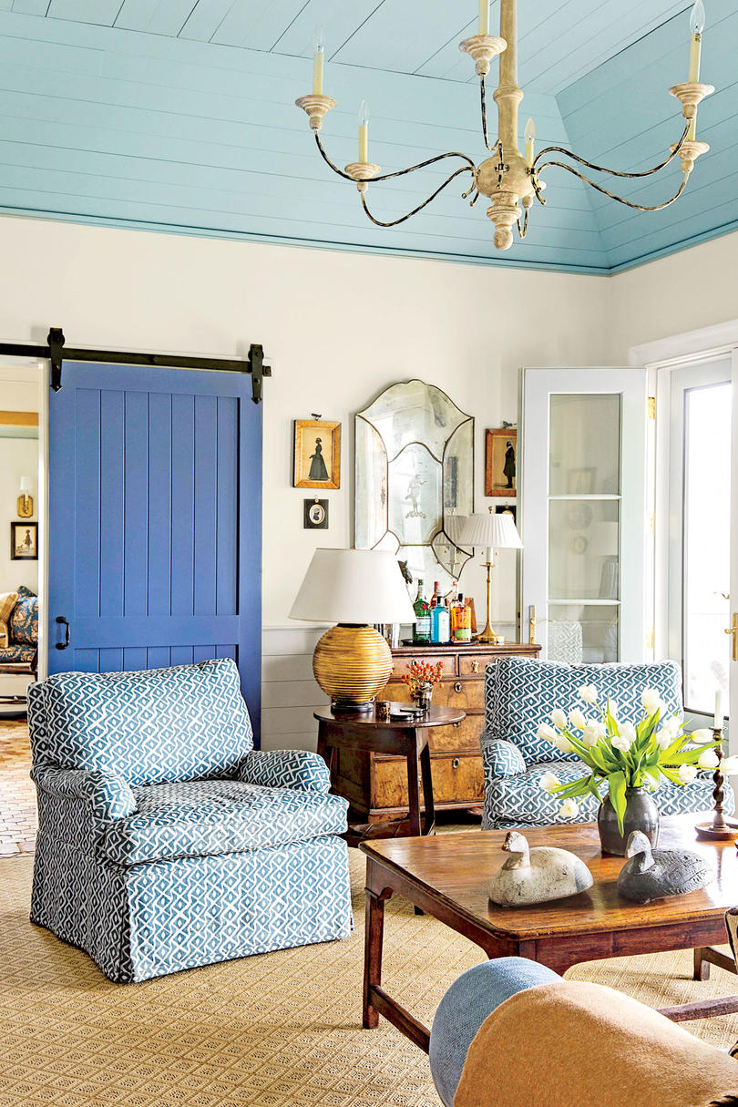 best living room decor what to paint my 106 decorating ideas southern with blue barn door