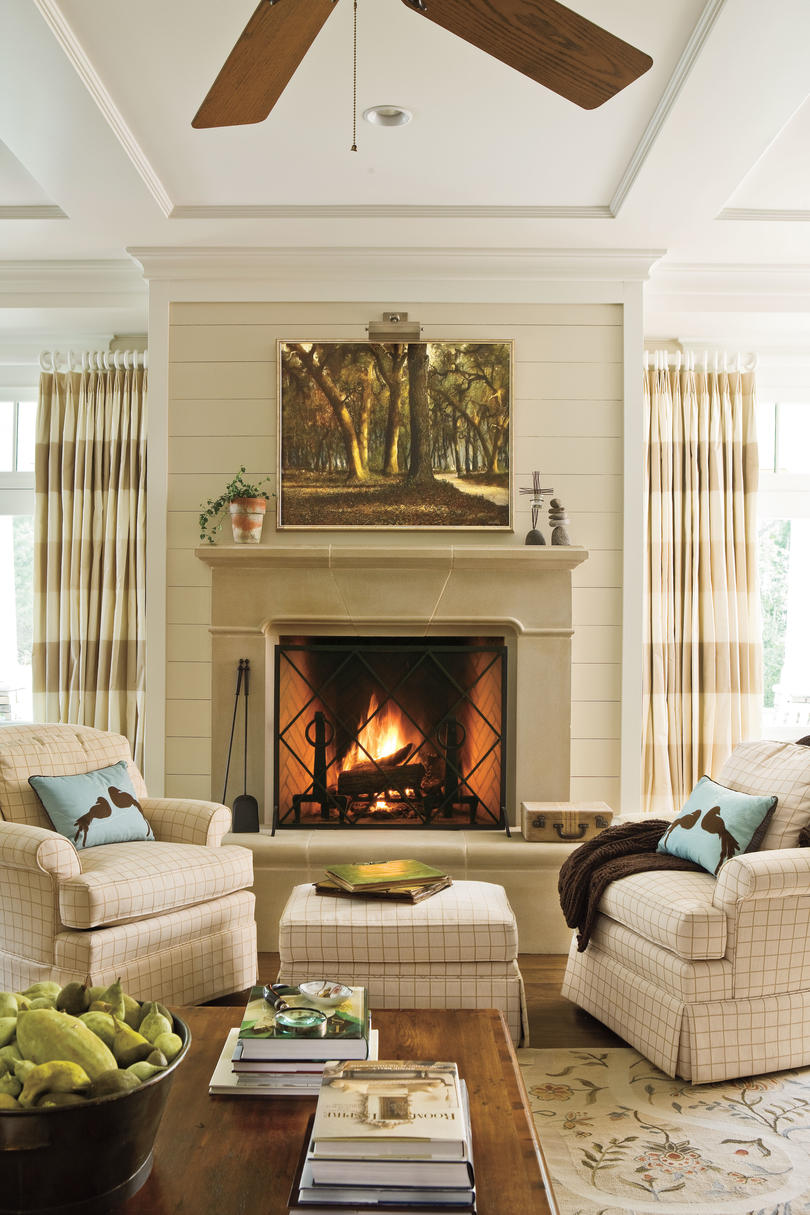Fireplace Styles Corner Living Pictures Room