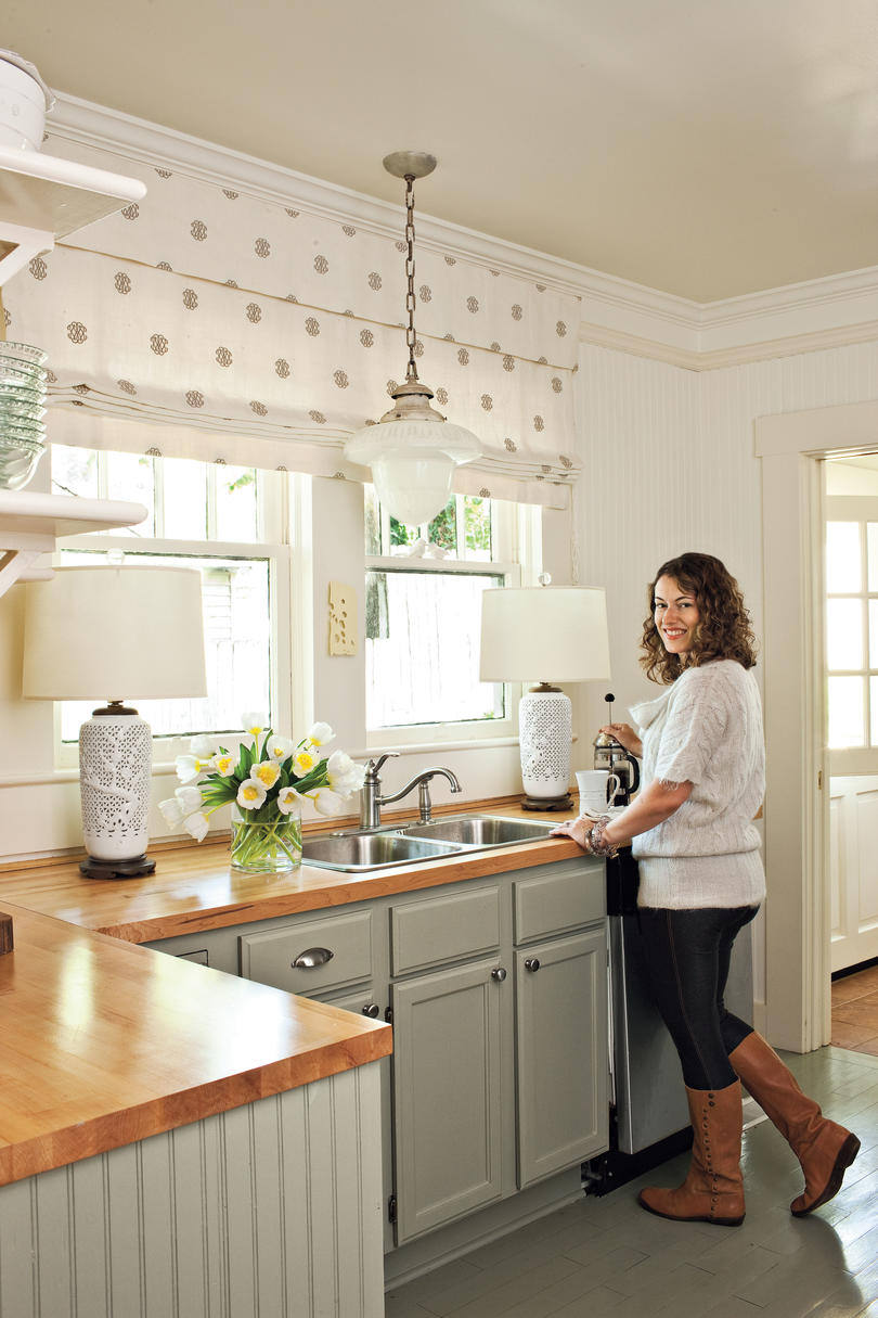 small rolling kitchen island tools and equipment inspiration - southern living