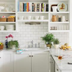 Kitchen Cabinet Images Triple Bowl Sink Creative Ideas Southern Living Open Cabinets