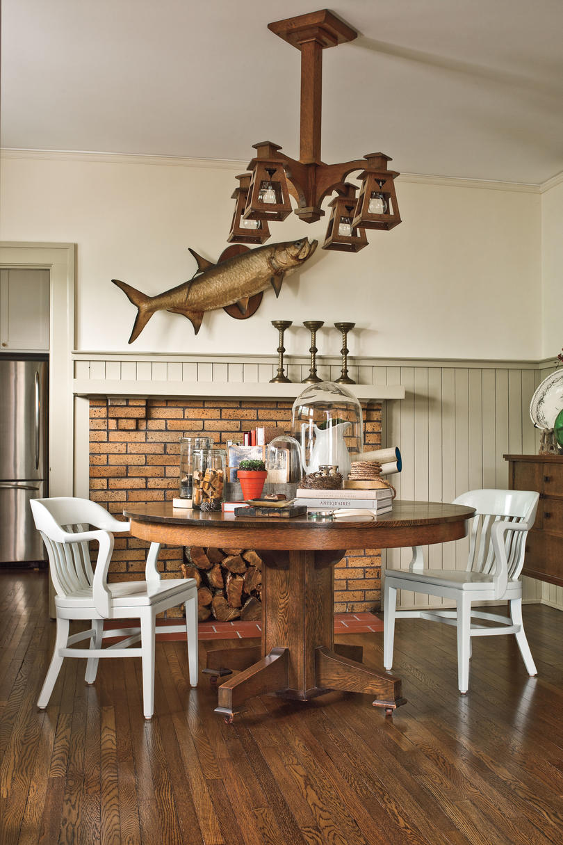Craftsman style home decorating ideas paint dark wood  fresh color also southern living rh southernliving