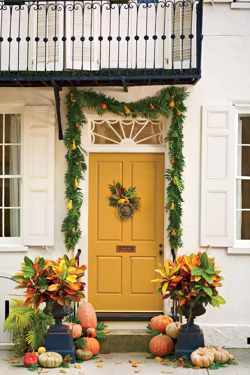 Front Porches Ready Fall - Southern Living