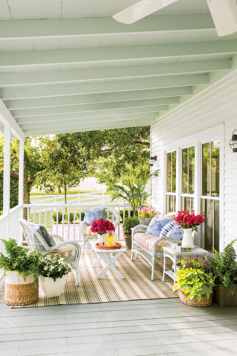 colorful texas porch