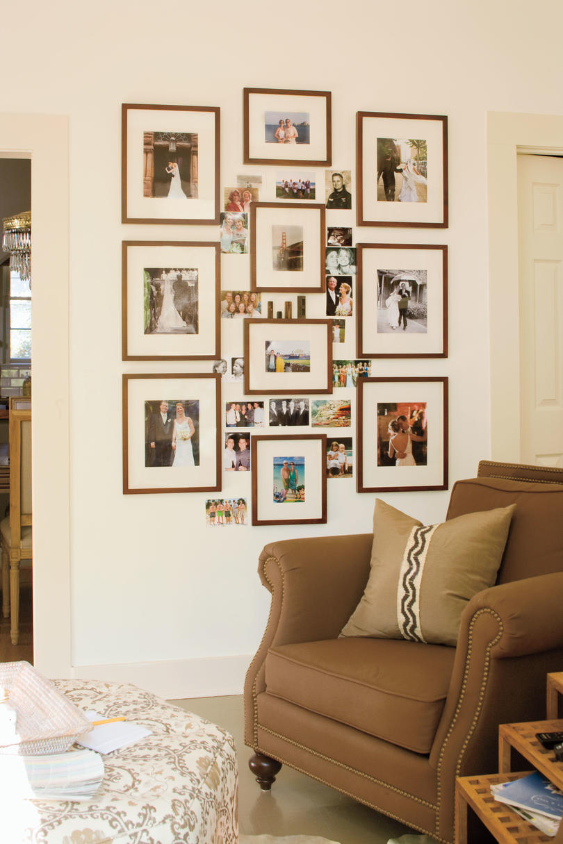 living room decorating ideas picture frames small colors 2018 a redo with personal touch family photo collage