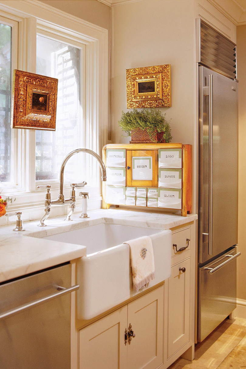 remodeled kitchen wall ideas and decorating southern living interior decorator s after